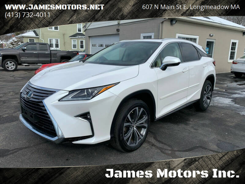 2019 Lexus RX 350 for sale at James Motors Inc. in East Longmeadow MA