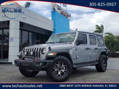 2018 Jeep Wrangler Unlimited for sale at Tech Auto Sales in Hialeah FL