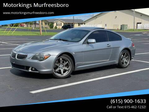 2004 BMW 6 Series for sale at Motorkings Murfreesboro in Murfreesboro TN