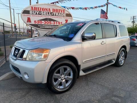 2012 Nissan Armada for sale at Arizona Drive LLC in Tucson AZ