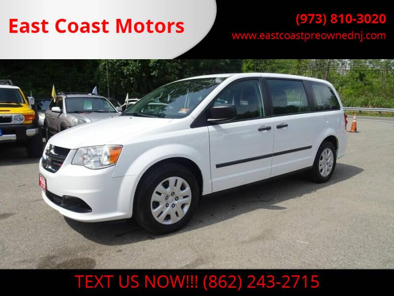 2014 Dodge Grand Caravan for sale at East Coast Motors in Lake Hopatcong NJ