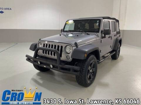 2016 Jeep Wrangler Unlimited for sale at Crown Automotive of Lawrence Kansas in Lawrence KS