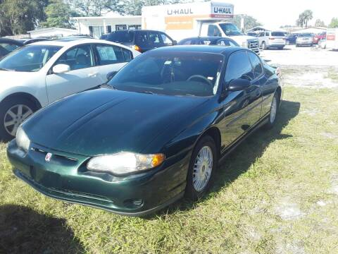 2002 Chevrolet Monte Carlo for sale at GOLDEN GATE AUTOMOTIVE,LLC in Zephyrhills FL