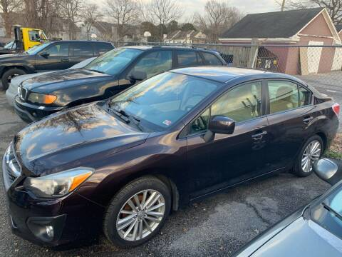 2013 Subaru Impreza for sale at Beach Auto Sales in Virginia Beach VA