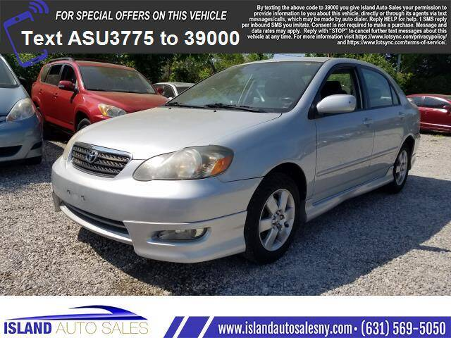 2008 Toyota Corolla for sale at Island Auto Sales in East Patchogue NY
