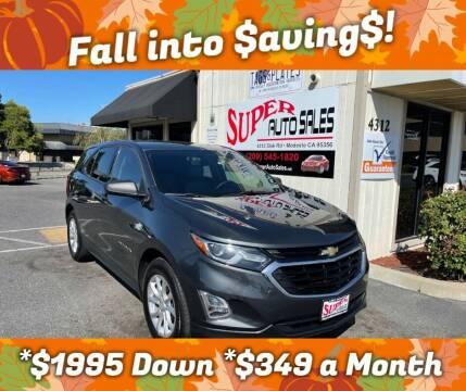 2018 Chevrolet Equinox for sale at Super Auto Sales Modesto in Modesto CA