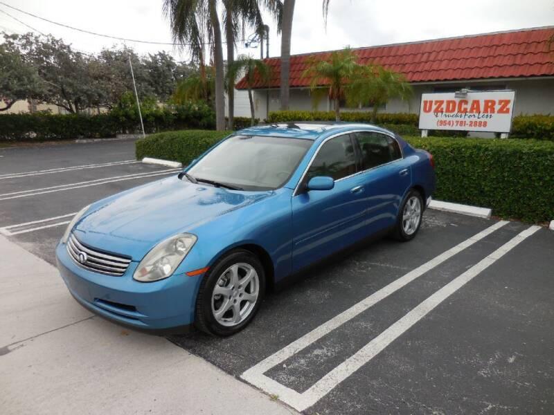 2003 Infiniti G35 for sale at Uzdcarz Inc. in Pompano Beach FL