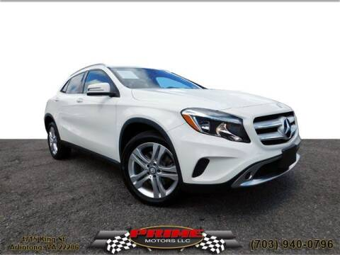 2017 Mercedes-Benz GLA for sale at PRIME MOTORS LLC in Arlington VA