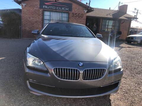 2012 BMW 6 Series for sale at Auto Click in Tucson AZ