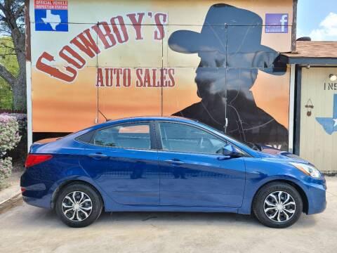 2017 Hyundai Accent for sale at Cowboy's Auto Sales in San Antonio TX