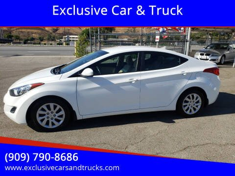 2013 Hyundai Elantra for sale at Exclusive Car & Truck in Yucaipa CA