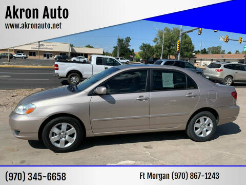 2003 Toyota Corolla for sale at Akron Auto - Fort Morgan in Fort Morgan CO