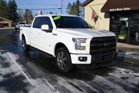 2015 Ford F-150 for sale at Nick's Motor Sales LLC in Kalkaska MI