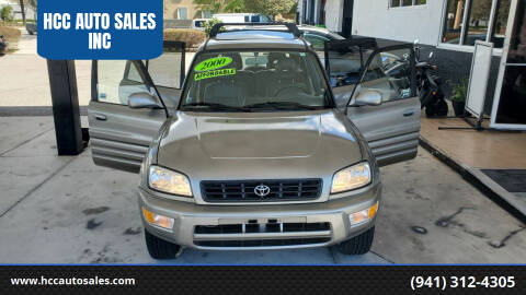 2000 Toyota RAV4 for sale at HCC AUTO SALES INC in Sarasota FL