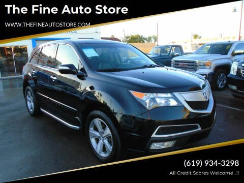 2012 Acura MDX for sale at The Fine Auto Store in Imperial Beach CA