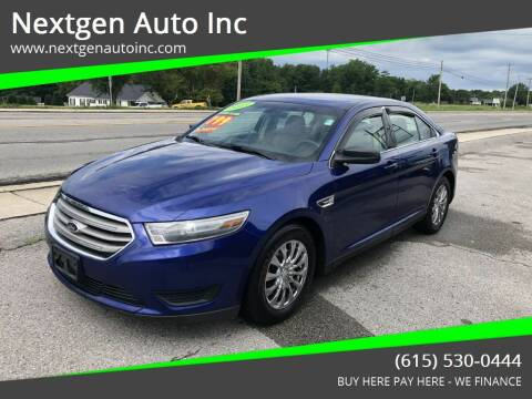 2013 Ford Taurus for sale at Nextgen Auto Inc in Smithville TN