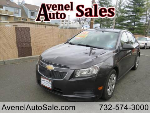 2014 Chevrolet Cruze for sale at Avenel Auto Sales in Avenel NJ