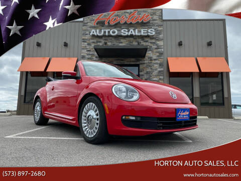 2015 Volkswagen Beetle Convertible for sale at HORTON AUTO SALES, LLC in Linn MO