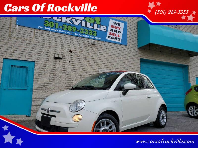 2012 FIAT 500c for sale at Cars Of Rockville in Rockville MD