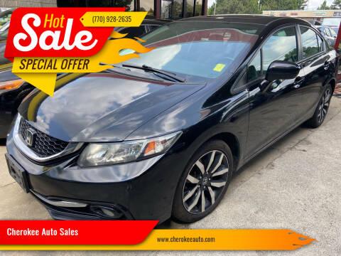 2015 Honda Civic for sale at Cherokee Auto Sales in Acworth GA