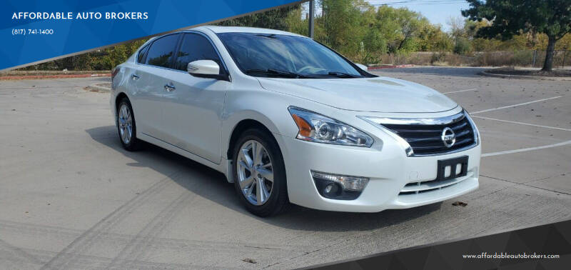 2015 Nissan Altima for sale at AFFORDABLE AUTO BROKERS in Keller TX