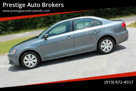 2013 Volkswagen Jetta for sale at Prestige Auto Brokers in Raleigh NC