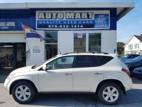 2006 Nissan Murano for sale at AUTO MART in Gardner MA
