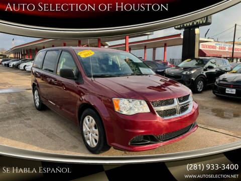 2018 Dodge Grand Caravan for sale at Auto Selection of Houston in Houston TX
