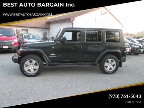 2010 Jeep Wrangler Unlimited for sale at BEST AUTO BARGAIN inc. in Lowell MA