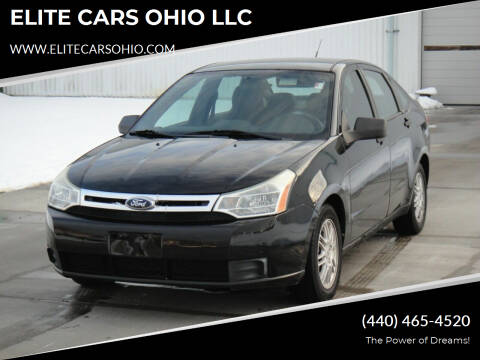 2010 Ford Focus for sale at ELITE CARS OHIO LLC in Solon OH