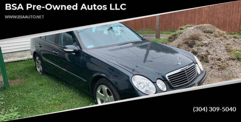2003 Mercedes-Benz E-Class for sale at BSA Pre-Owned Autos LLC in Hinton WV