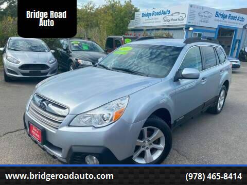 2013 Subaru Outback for sale at Bridge Road Auto in Salisbury MA