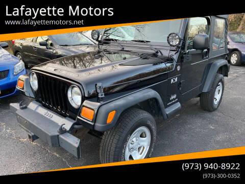 2006 Jeep Wrangler for sale at Lafayette Motors in Lafayette NJ
