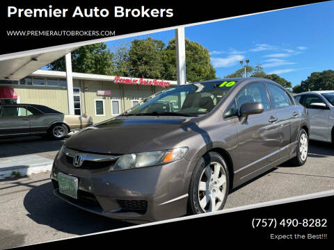 2010 Honda Civic for sale at Premier Auto Brokers in Virginia Beach VA