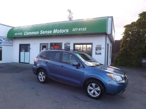 2015 Subaru Forester for sale at Common Sense Motors in Spokane WA