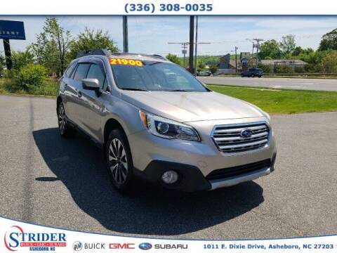 2016 Subaru Outback for sale at STRIDER BUICK GMC SUBARU in Asheboro NC