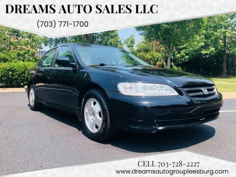 2001 Honda Accord for sale at Dreams Auto Sales LLC in Leesburg VA