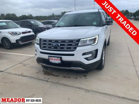 2017 Ford Explorer for sale at Meador Dodge Chrysler Jeep RAM in Fort Worth TX