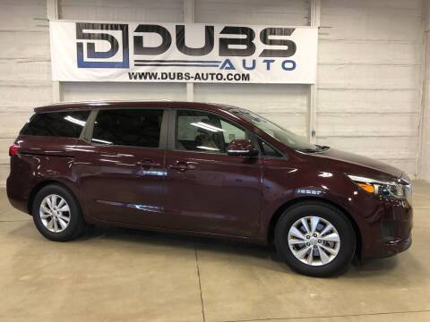 2017 Kia Sedona for sale at DUBS AUTO LLC in Clearfield UT