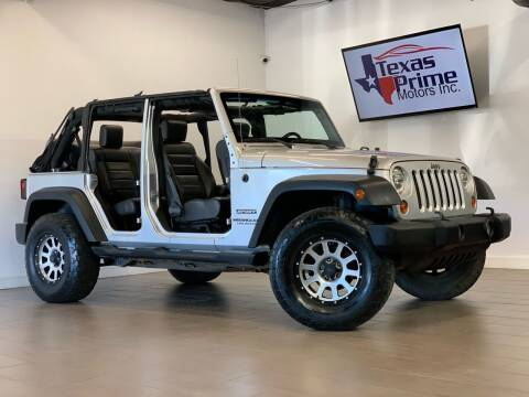 2010 Jeep Wrangler Unlimited for sale at Texas Prime Motors in Houston TX