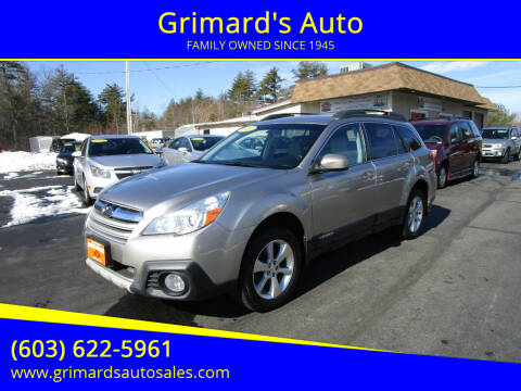2014 Subaru Outback for sale at Grimard's Auto in Hooksett, NH