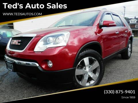 2012 GMC Acadia for sale at Ted's Auto Sales in Louisville OH