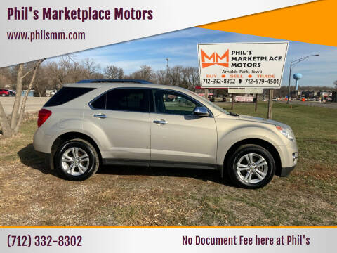 2012 Chevrolet Equinox for sale at Phil's Marketplace Motors in Arnolds Park IA