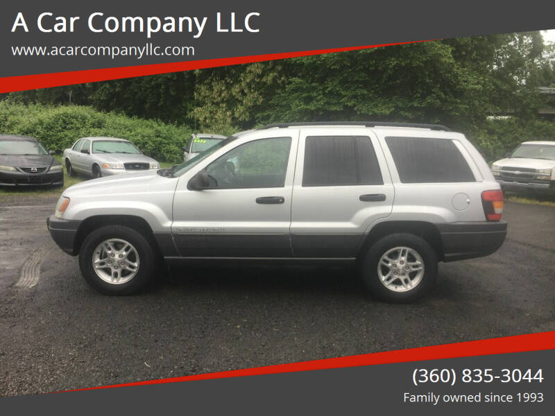 2002 Jeep Grand Cherokee for sale at A Car Company LLC in Washougal WA