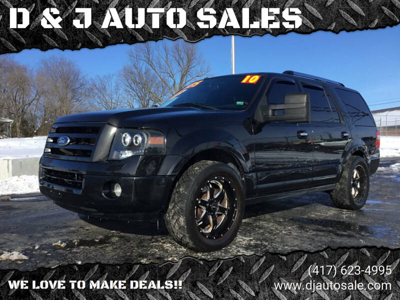 2010 Ford Expedition for sale at D & J AUTO SALES in Joplin MO