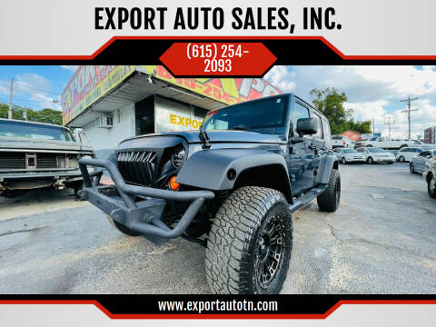 2007 Jeep Wrangler Unlimited for sale at EXPORT AUTO SALES, INC. in Nashville TN