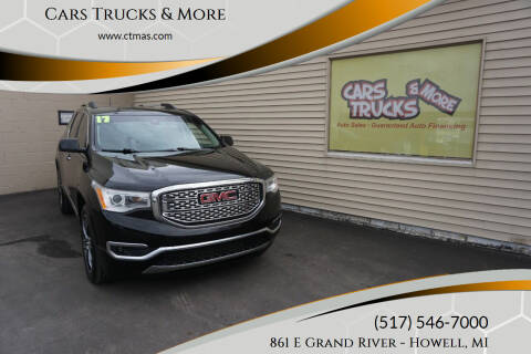 2017 GMC Acadia for sale at Cars Trucks & More in Howell MI