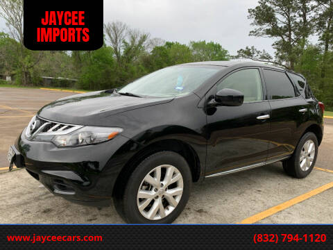 2013 Nissan Murano for sale at JAYCEE IMPORTS in Houston TX