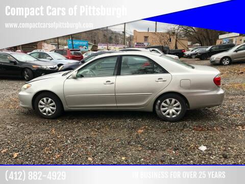 2005 Toyota Camry for sale at Compact Cars of Pittsburgh in Pittsburgh PA