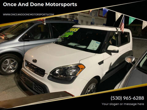 2012 Kia Soul for sale at Once and Done Motorsports in Chico CA